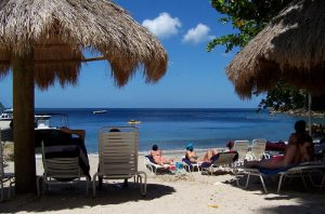 Complimentary chairs, Snorkeling Area of Jalousie Beach, Spencer Ambrose Tours, St. Lucia