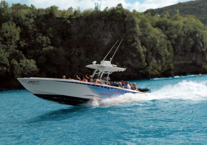 Speedboat Tours, Spencer Ambrose Tours, St. Lucia